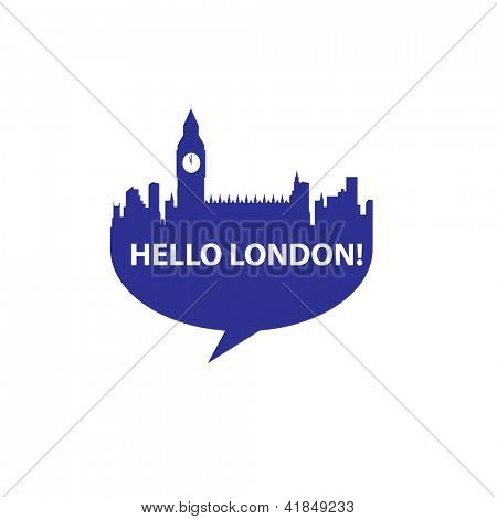 Speech-bubble - Hello London! vector