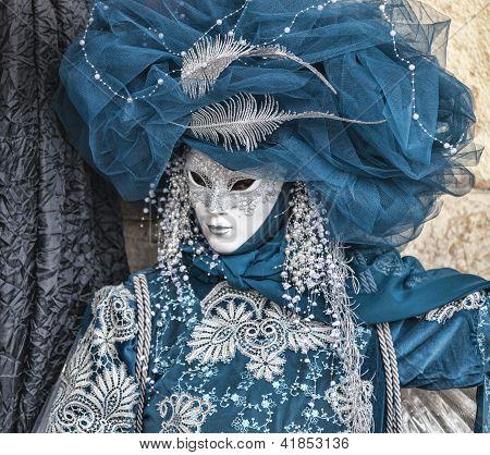 Blue Venetian Disguise
