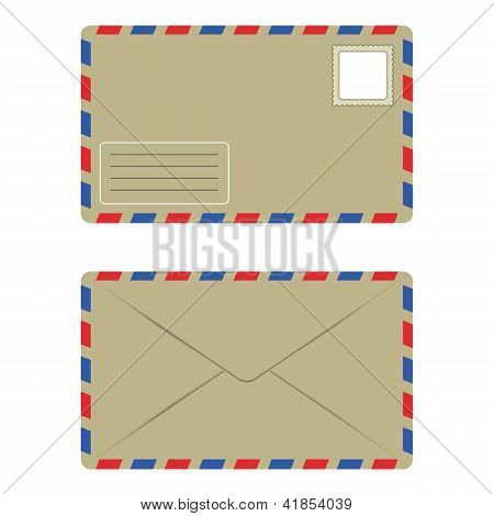 Old Envelope With Postage Stamp