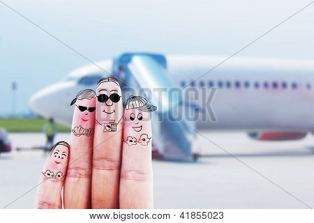 Family Trip At Airport