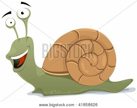 Happy Snail Character