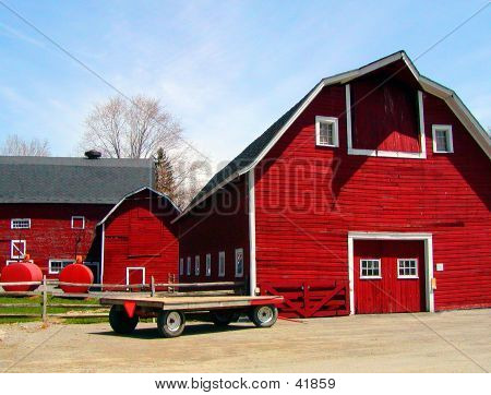 Bright Red Barn