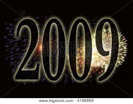 Fondo de fuegos artificiales - New Years Eve 2009B