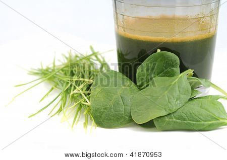 Wheatgrass And Spinach Juice