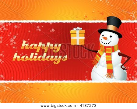 Snowman Happy Holidays
