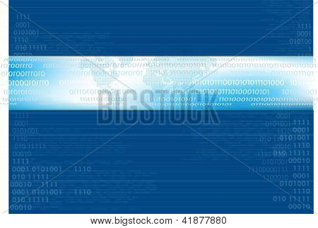 Blue Binary Vector Background