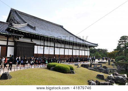 Kyoto-22 de outubro: Visita de campo no Castelo de Nijo