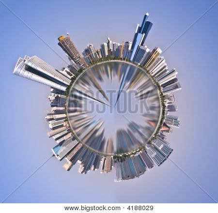 Abu Dhabi Panoramic Mini Planet
