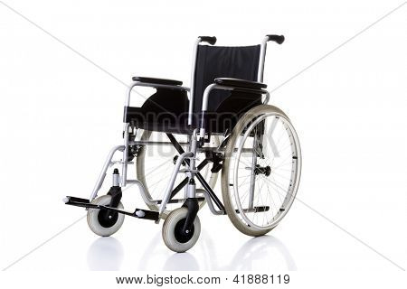 Invalid chair, wheelchair - isolated on white background