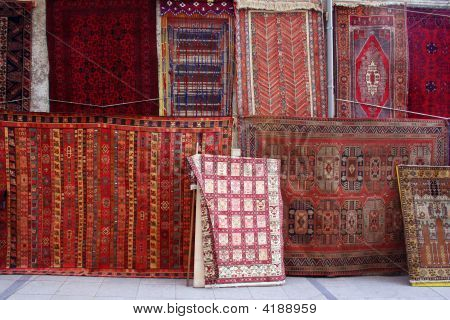 Rugs In A Carpet Shop
