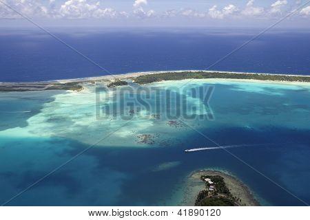 polynesia aerial view