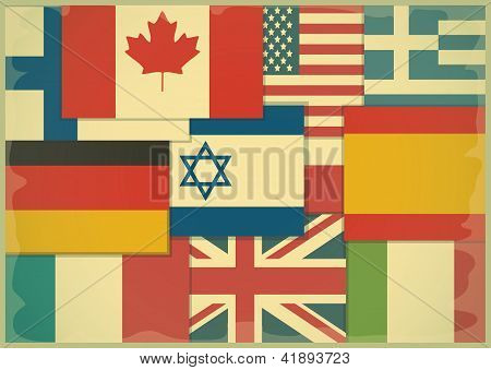 Flag Retro Background