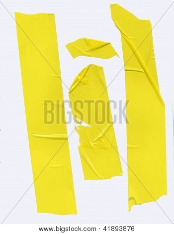 Yellow Packing Tape On White