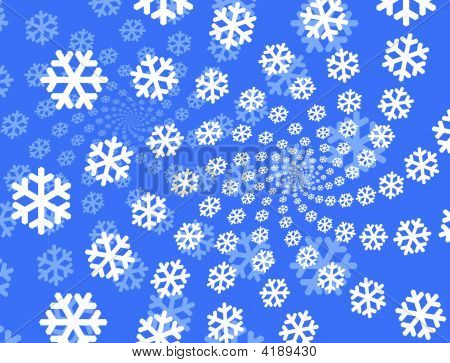 Snowflakes Background.