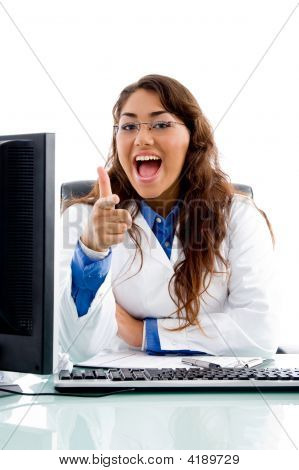 Medical Professional Pointing At Camera