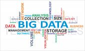 stock photo of cluster  - A word cloud of big data related items - JPG