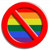 foto of perversion  - Illustration of a stop sign gays and homosexuality - JPG