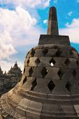 Stupa With Hidden Buddha Statue Borobudurtemple. Indonesia.