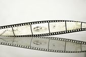 Filmstrip with wedding photos