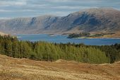 pic of gneiss  - Panorama of Glen Shiel in Scotland in the autumn - JPG