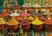 stock photo of garam masala  - spice spices sold in a variety of color photo shop - JPG