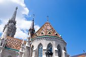 the matthias church in budapest (hungary). one of the landmarks of the city. poster