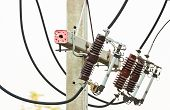 image of utility pole  - electrical power equipment - JPG