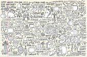 picture of dinosaur-eggs  - Notebook Doodle Design Elements Vector Set - JPG