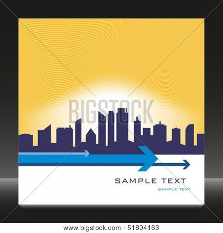 City skyline design with copy space.