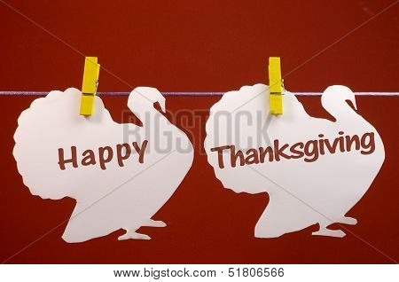 Celebrate Thanksgiving On The Last Thursday In November With A Happy Thanksgiving Message Greeting W