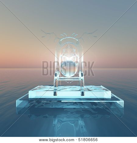 Throne Of Light Over Water