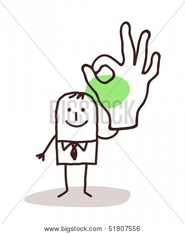 Businessman Holding Up an OK Sign hand