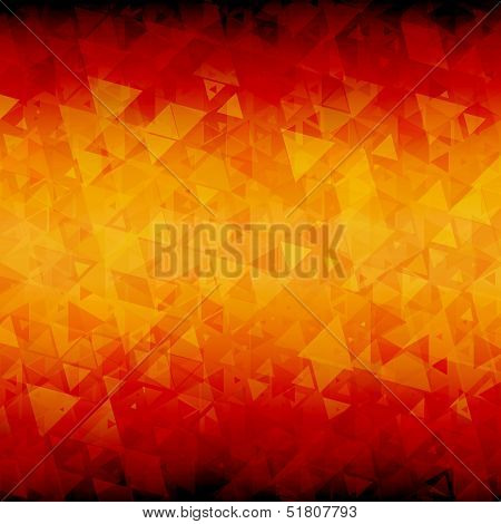 Fiery abstract triangle background
