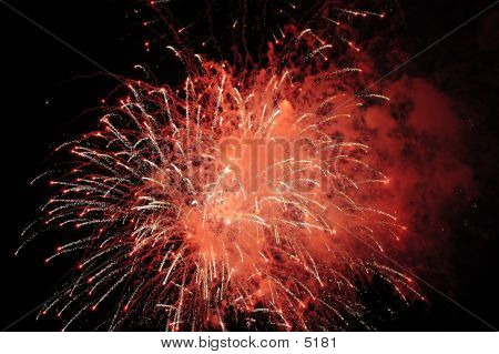 Red Fireworks Display poster
