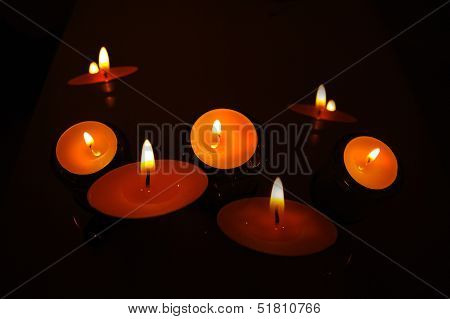 candles flame glow in the dark