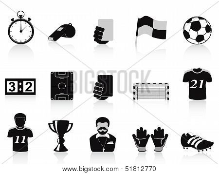 Black Football Icons Set