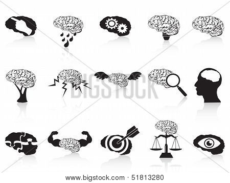 Brain Conceptual Icons Set