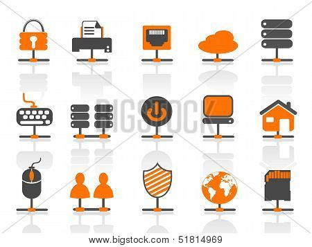 Network Connection Icons Set