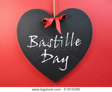 France National holiday calendar 14 July Fourteenth of July Bastille Day Greetin on Blackboard