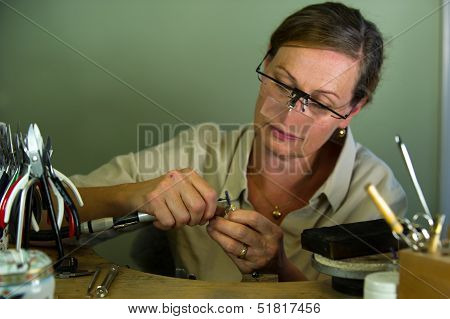 The Goldsmith At Work