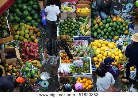 Fruit open air market/ flea market