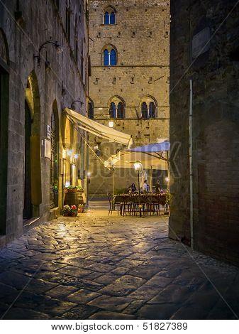 Night Scene In Volterra