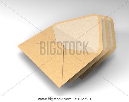 Three Envelopes For Mail