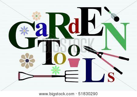 Garden Tools Text