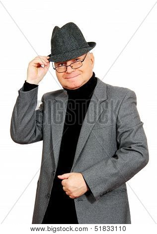 Man In Suit And Hat.