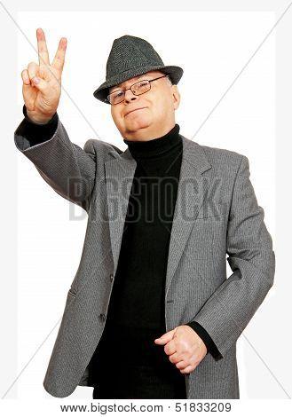 Man Shows Gesture