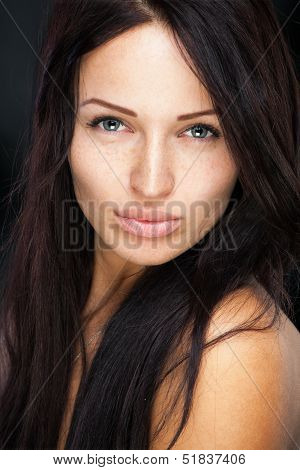 Girl With Cute Freckles