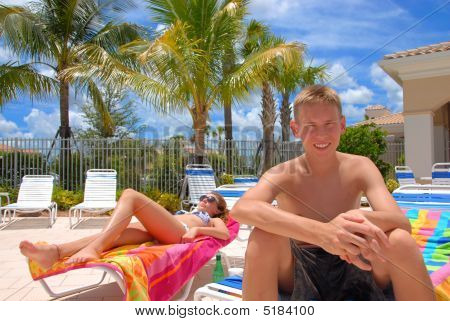 Brother And Sister Enjoys Vacation