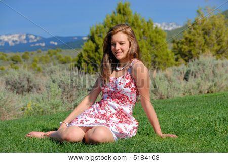 Teen On Grass