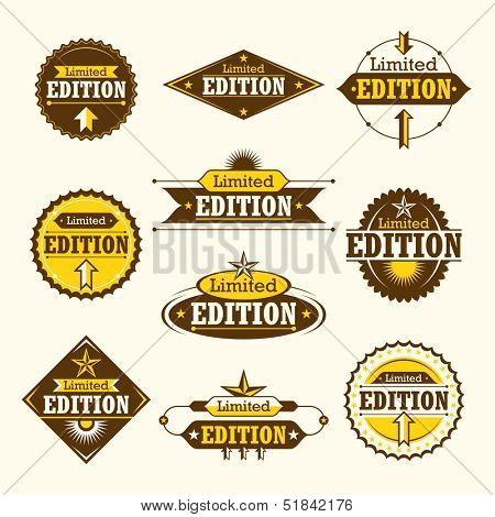 Set of limited edition labels. Vector illustration.
